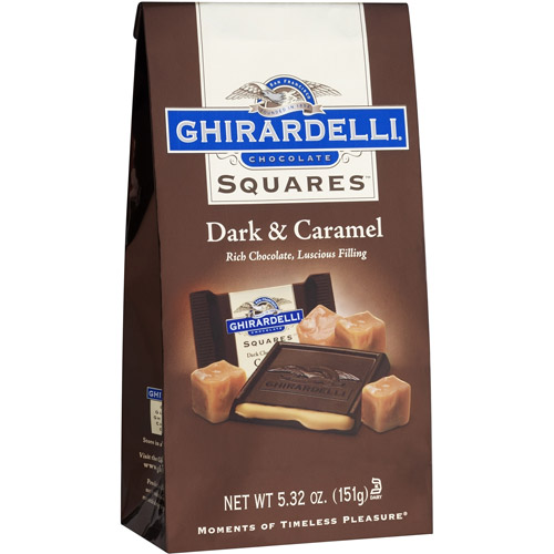 Ghirardelli Chocolate: Squares 60% Cacao Dark Chocolate W/Caramel Chocolate, 5.32 oz