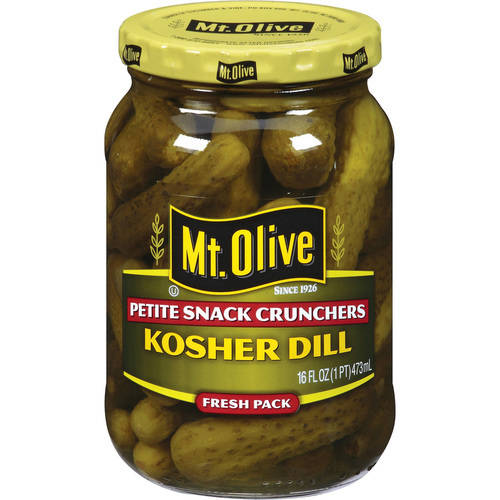 Mt. Olive Petite Snack Crunchers Kosher Dills Pickles, 16 fl oz