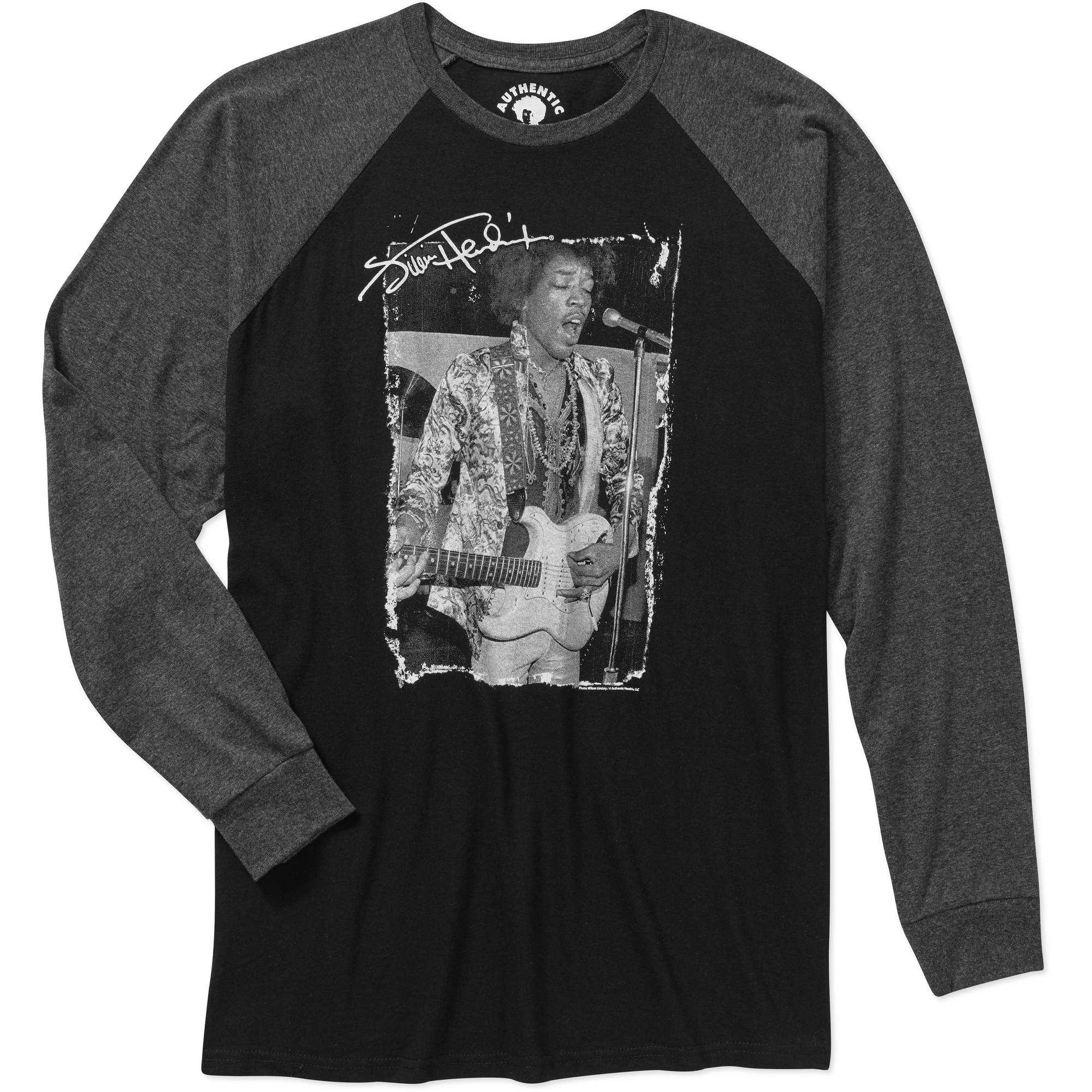Jimi Hendrix Men's Graphic Raglan Baseball Tee