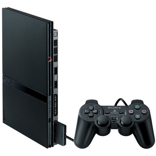 Sony PlayStation 2 Slim Black Console (SCPH-77001)