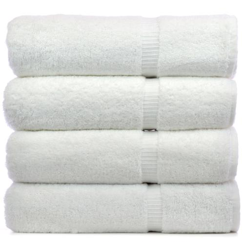 Luxury Hotel and Spa 100-percent Genuine Turkish Cotton Bath Towels (Set of 4) White