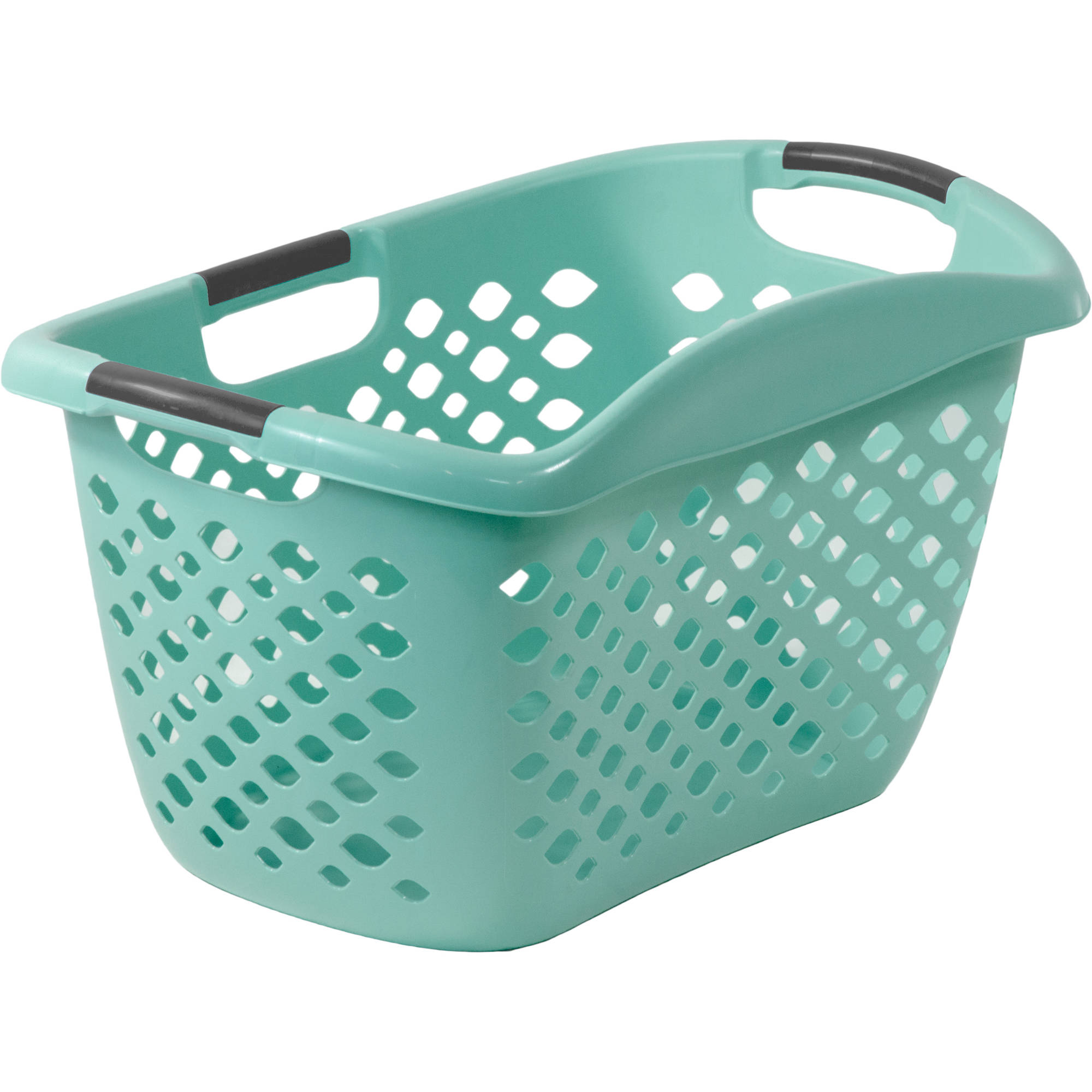 Home Logic 1.8-Bu Large-Capacity Hip Grip Laundry Basket, Teal Splash