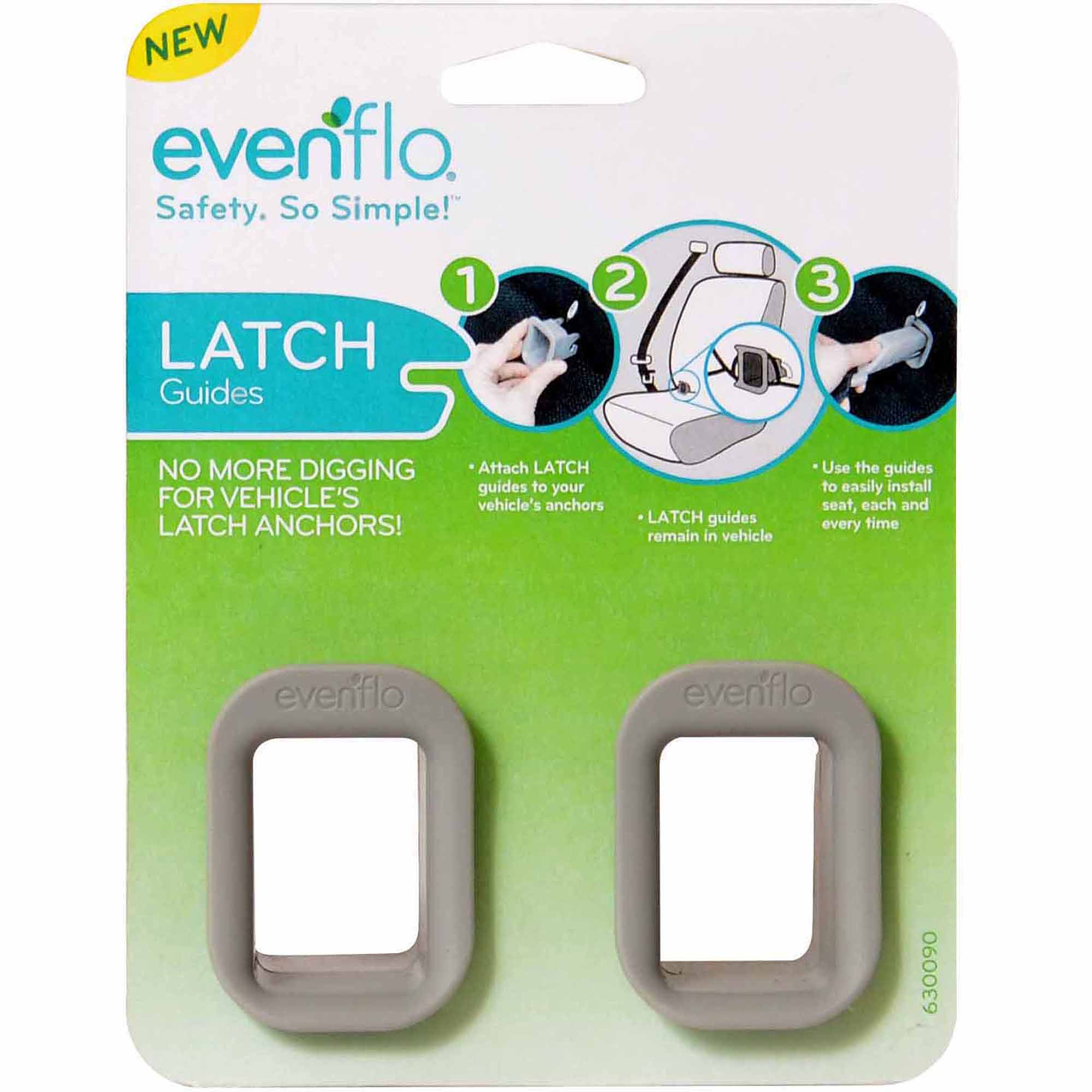 Evenflo Sure Safe Installation Latches, Gray, 2-Pack