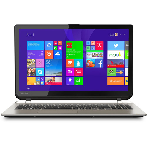 "Refurbished Toshiba S55T-B5136 15.6"" Intel Laptop i7-5500U 12GB Memory 2TB Drive Win 10"