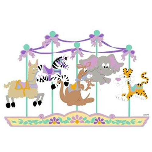 Elephants on the Wall 5-1184 Carousel of Critters - Paint It Yourself
