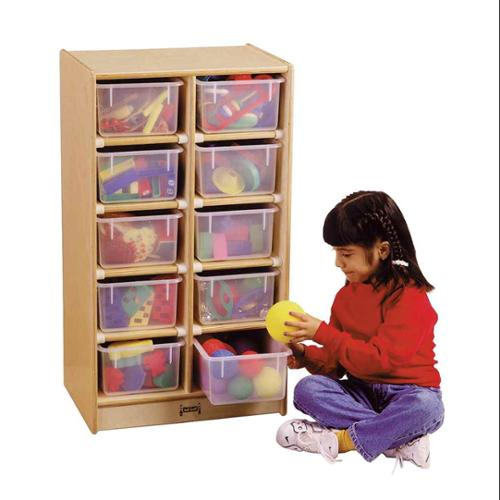 Jonti Craft 10 Cubbie Mobile Storage Unit (Colored Trays)