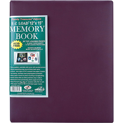 "Family Treasures Deluxe Fabric Postbound Album, 12"" x 15"""