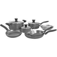 T Fal A821SA94 Charcoal Initiatives 10-Piece Cookware Set