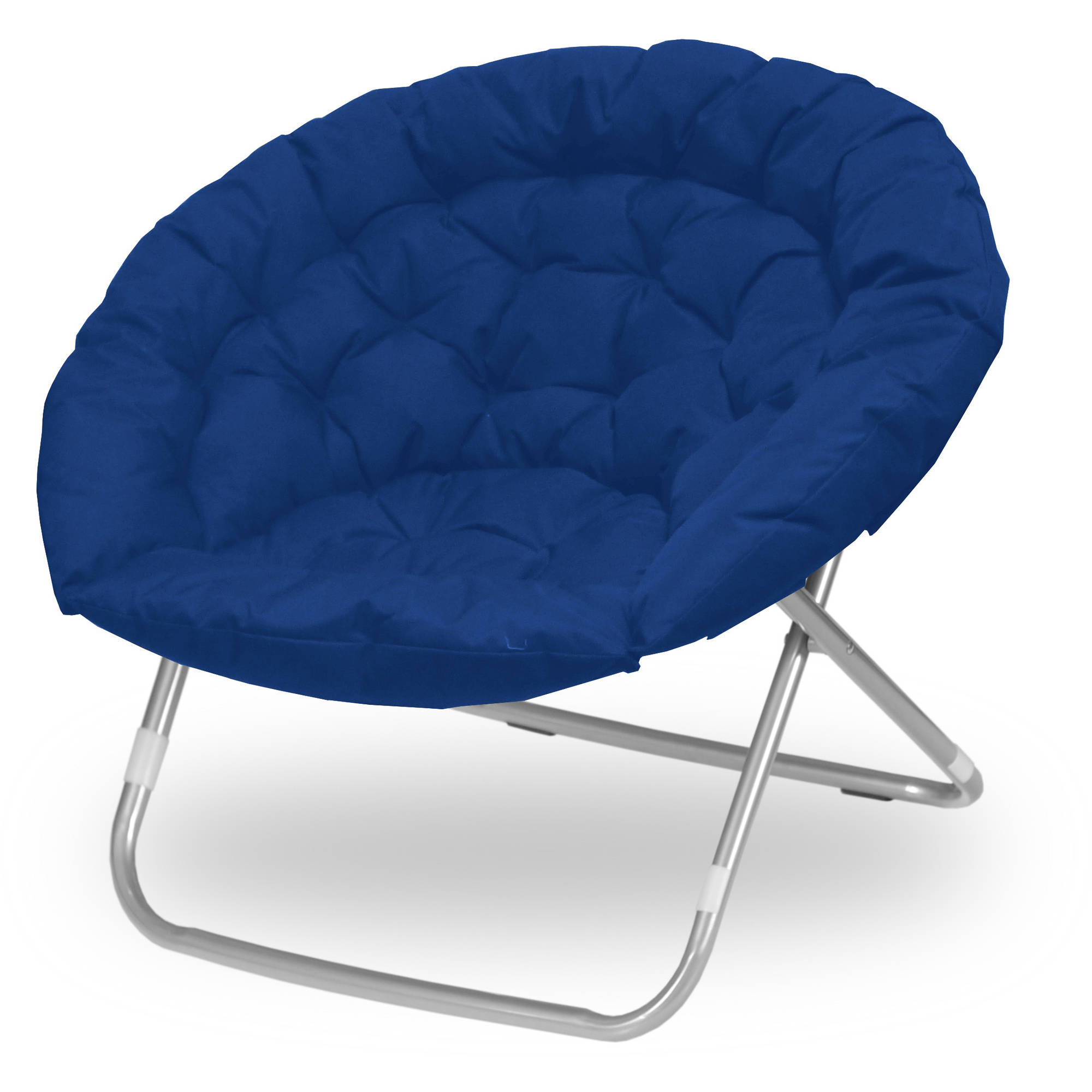 Urban Shop Oversized Adult Saucer Chair, Navy