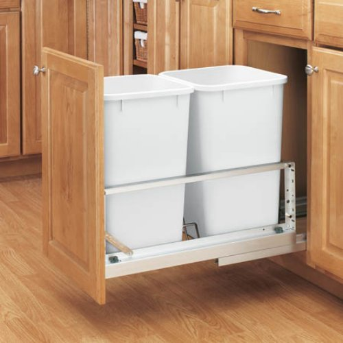 Rev-A-Shelf Double Soft Close Pull Out 27 qt. Trash Can