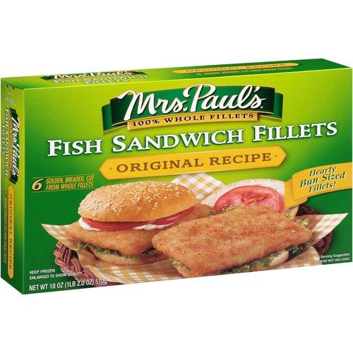 Mrs. Paul's® Original Recipe Fish Sandwich Fillets 18 oz. Box