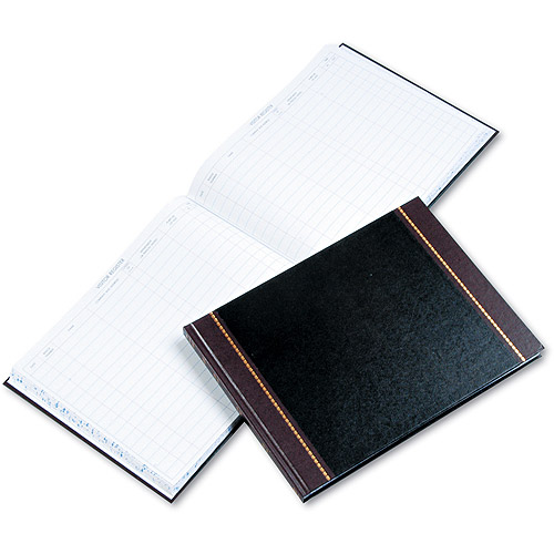 Wilson Jones Detailed Visitor Register Book, Black Cover, 208 Pages