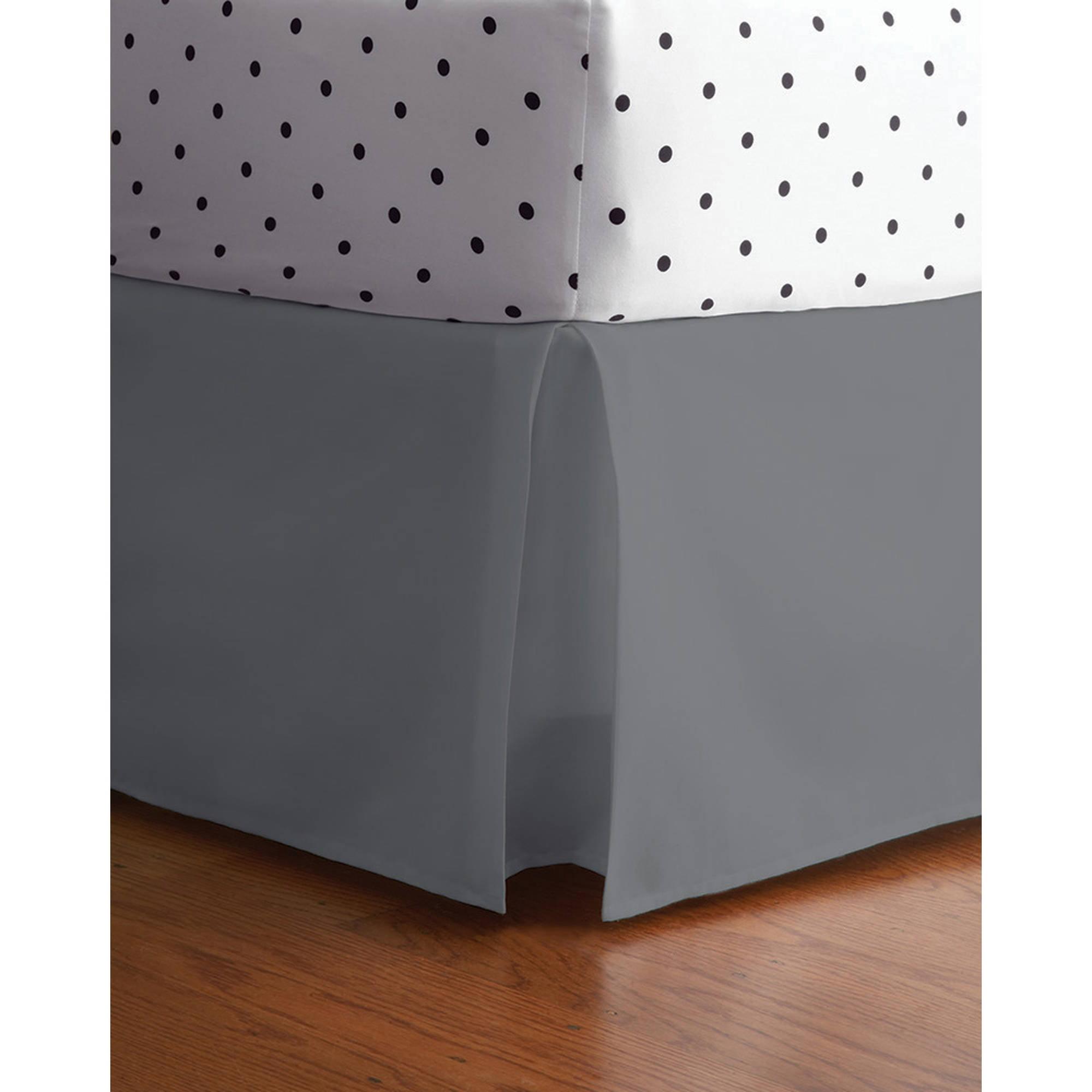 Mainstays Kids Microfiber Solid Bed Skirt, Full