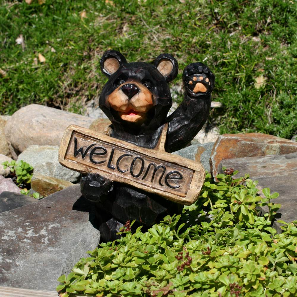 Smart Solar Solar Light Welcome Bear Sign