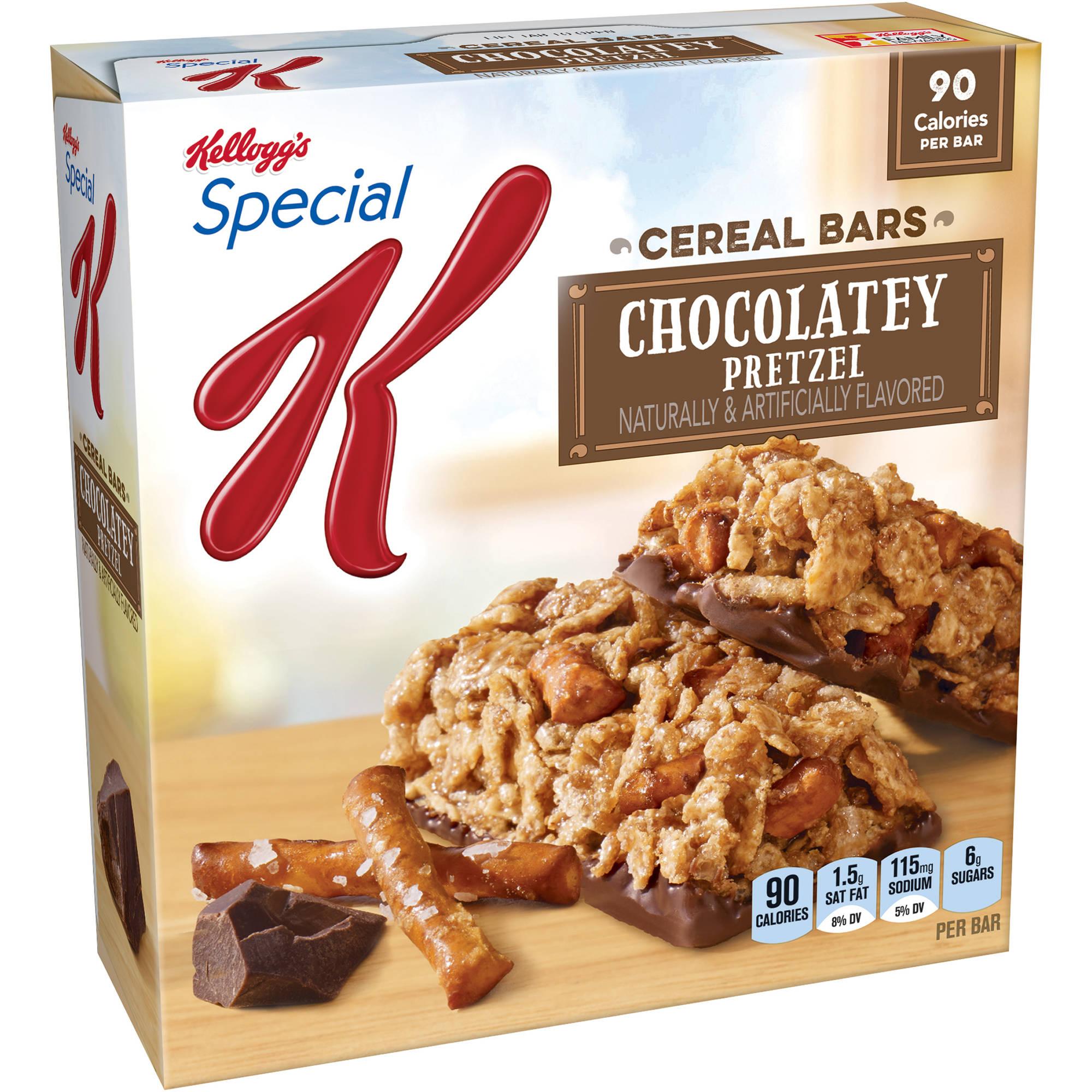 Kellogg's Special K Chocolatey Pretzel Cereal Bars, 6 count, 4.6 oz