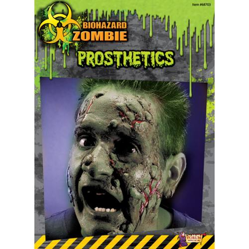 Biohazard Zombie Costume Makeup Facial Prosthetics One Size