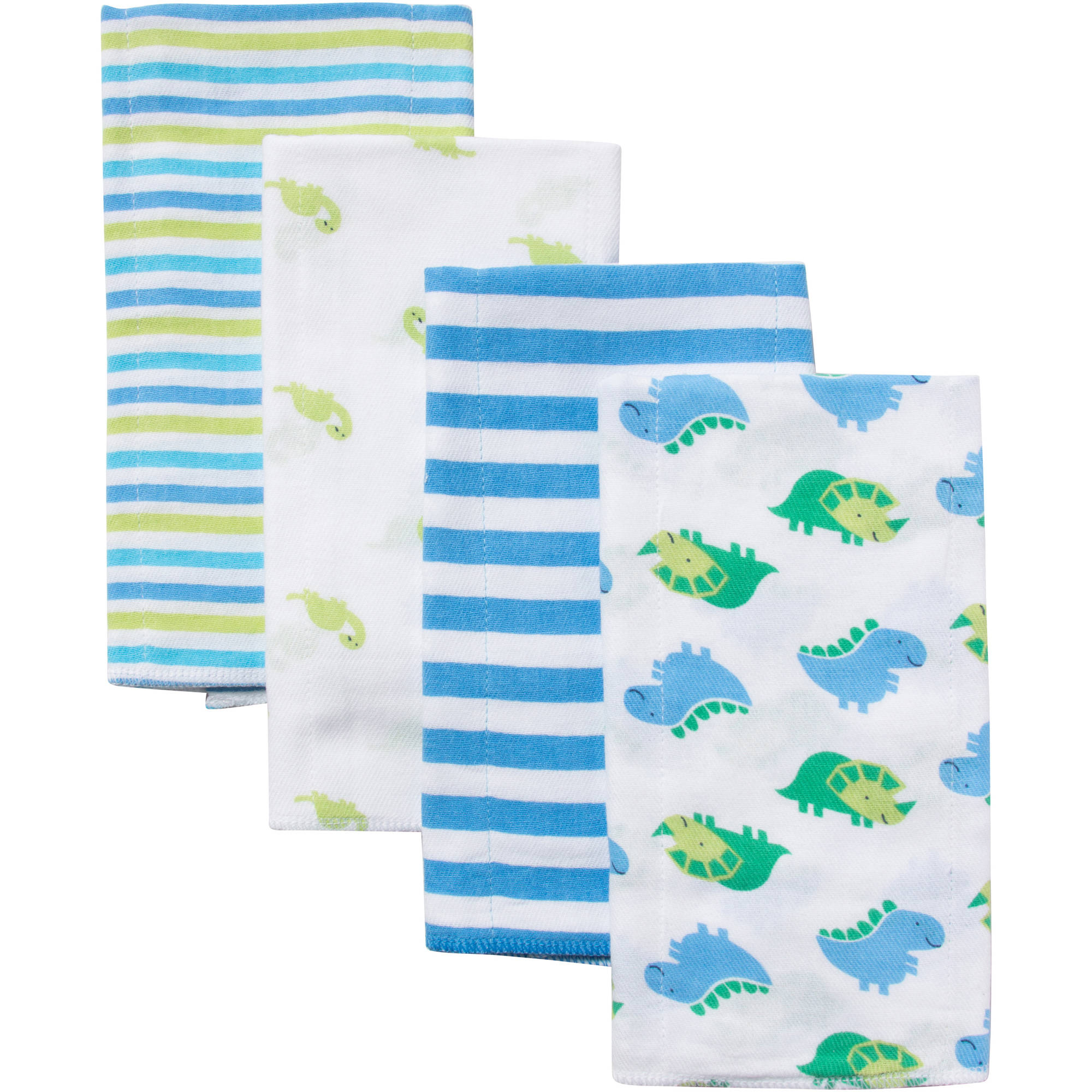 Gerber Prefold Diaper Burp Cloths, Boy Animal Print, 4 count