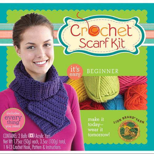 Beginner Crochet Scarf Kit-Purple