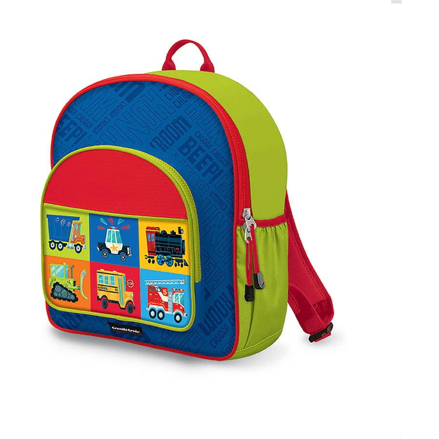 "Crocodile Creek Eco Kids Vehicle Kids School Backpack, 14"", Blue"