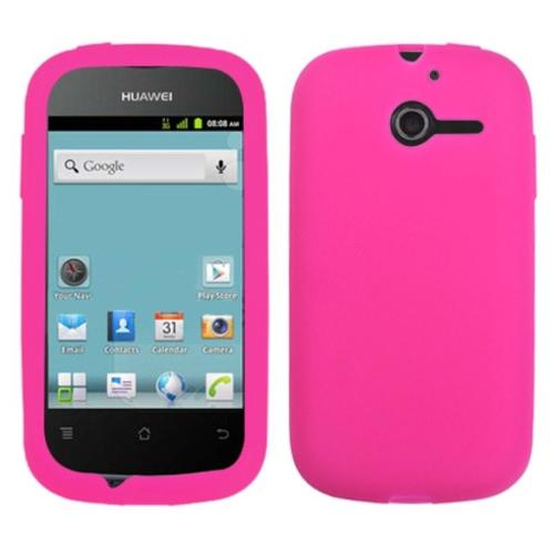Insten Solid Skin Case (Hot Pink) for HUAWEI: M866 (Ascend Y)