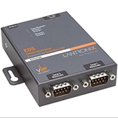 Lantronix 2-Port Secure Serial (RS232/ RS422/ RS485) to Ethernet (Refurbished)