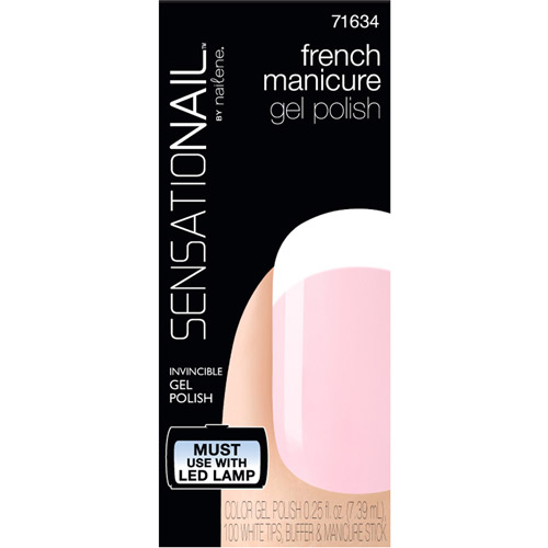 SensatioNail French Manicure Gel Polish Kit, 71634 Sheer Pink, 103 pc