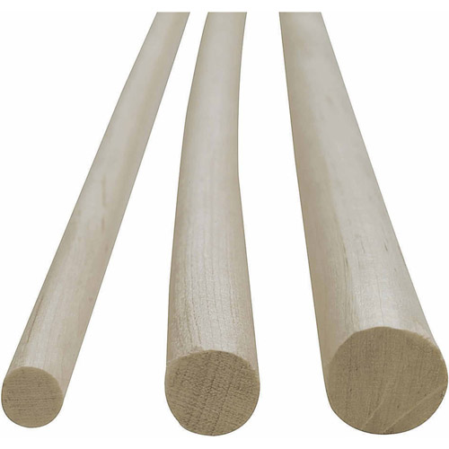 "Wood Dowels, 36""L, Pack of 12, 3/8"" x 36"""