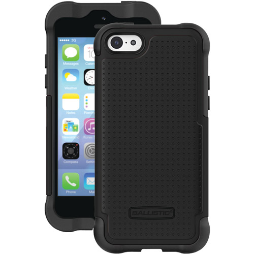 Ballistic Shell Gel Case for iPhone 5c (Black/Black)