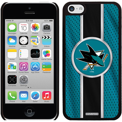San Jose Sharks Jersey Stripe Design on iPhone 5c Thinshield Snap-On Case by Coveroo