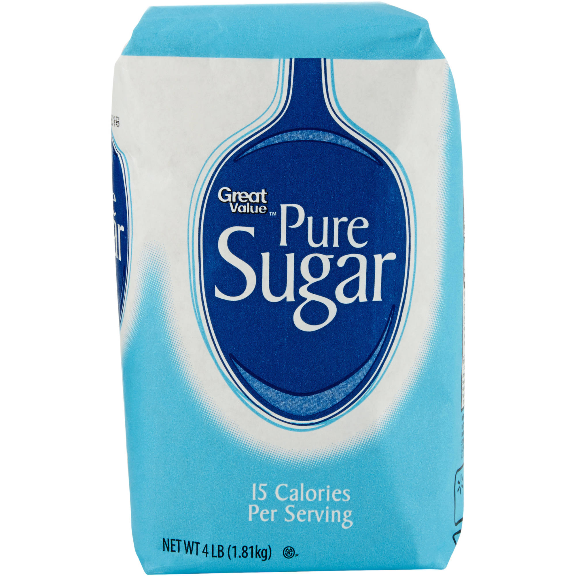 Great Value: Pure Cane Sugar, 4 Lb