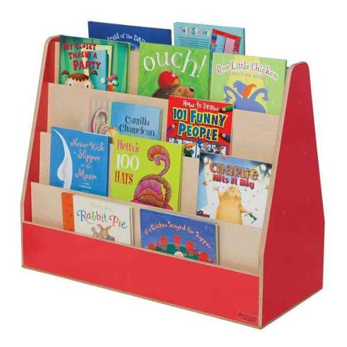 Kid's Play Double Sided Wooden Book Display Unit (Blueberry)