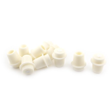 10pcs Beige Silicone Stopper Bungs Airlock for Lab 24-28mm Mouth Conical Flask - image 1 of 1