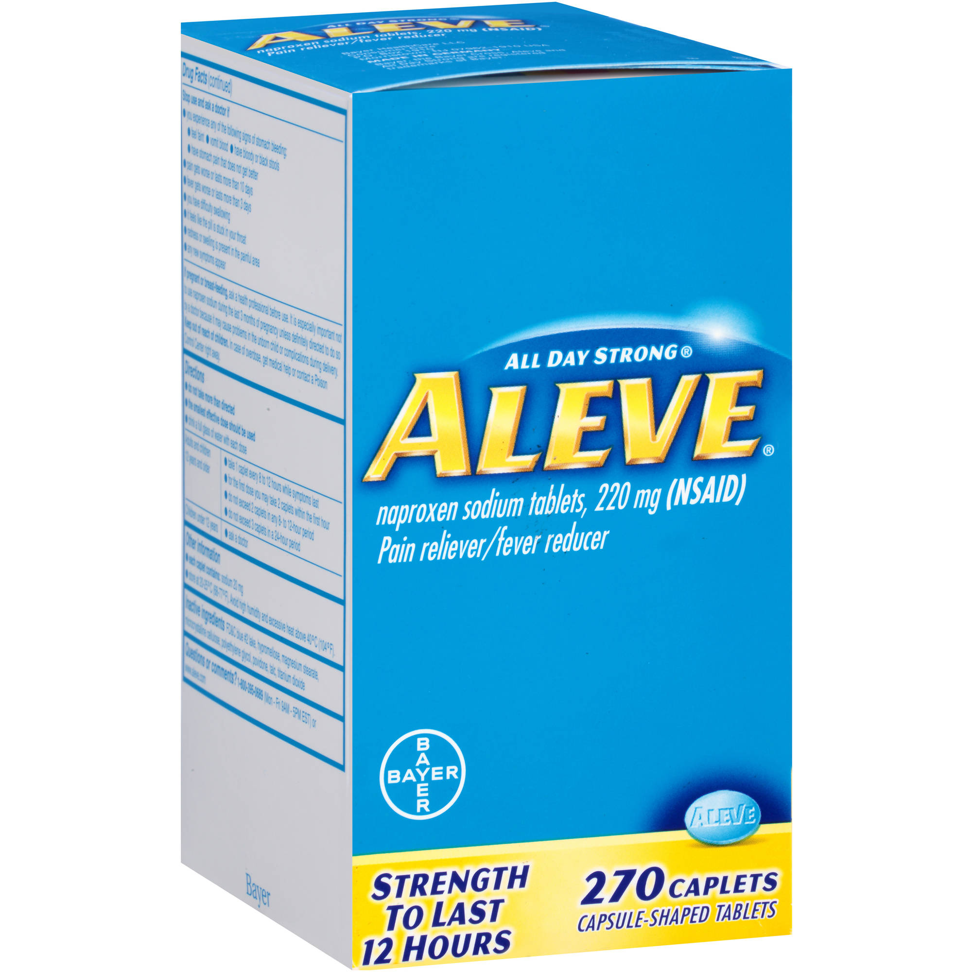 Aleve Naproxen Sodium Pain Reliever/Fever Reducer, 220mg, 270 count