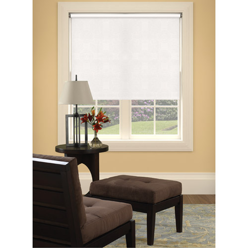 Bali Size-at-Home Vinyl Roller Shade, Swirl White