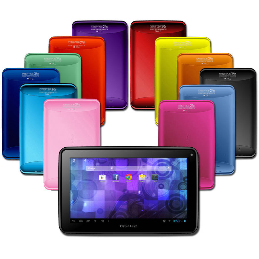 "Visual Land Prestige 7"" Tablet 8GB Memory Bonus Screen Cover"