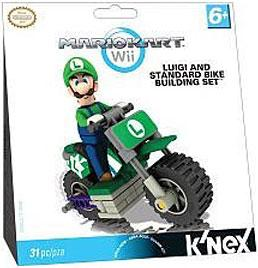 K'NEX Mario Kart Wii Building Set: Luigi with Standard Bike