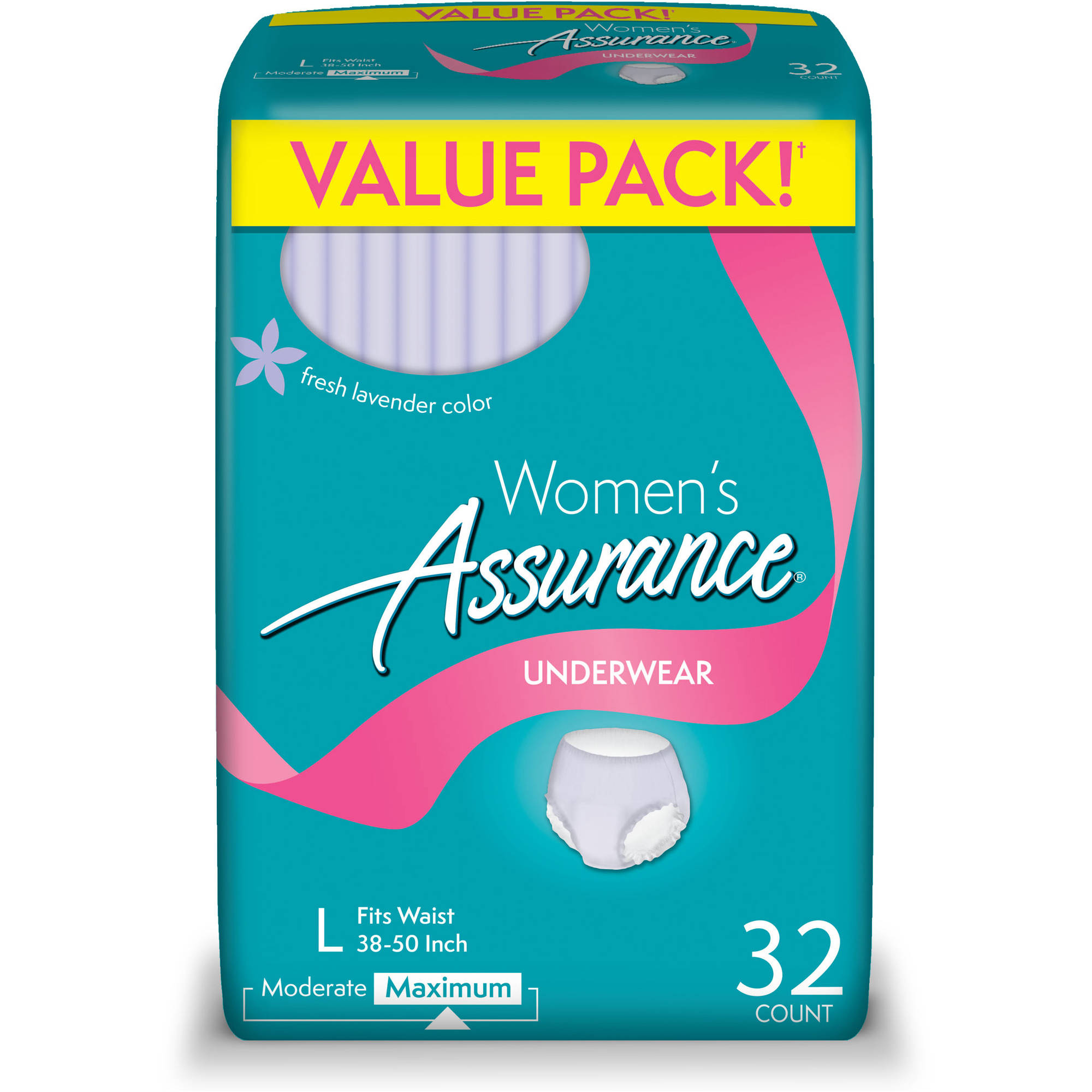 Assurance For Women Maximum Absorbency Large Underwear, 32ct