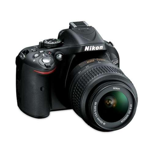 "Nikon D5200 Digital SLR Camera with 18-55mm Lens - 24.1 Megapixels, CMOS Sensor, 3"" LCD, Full HD 1080p Movies, Black  -"