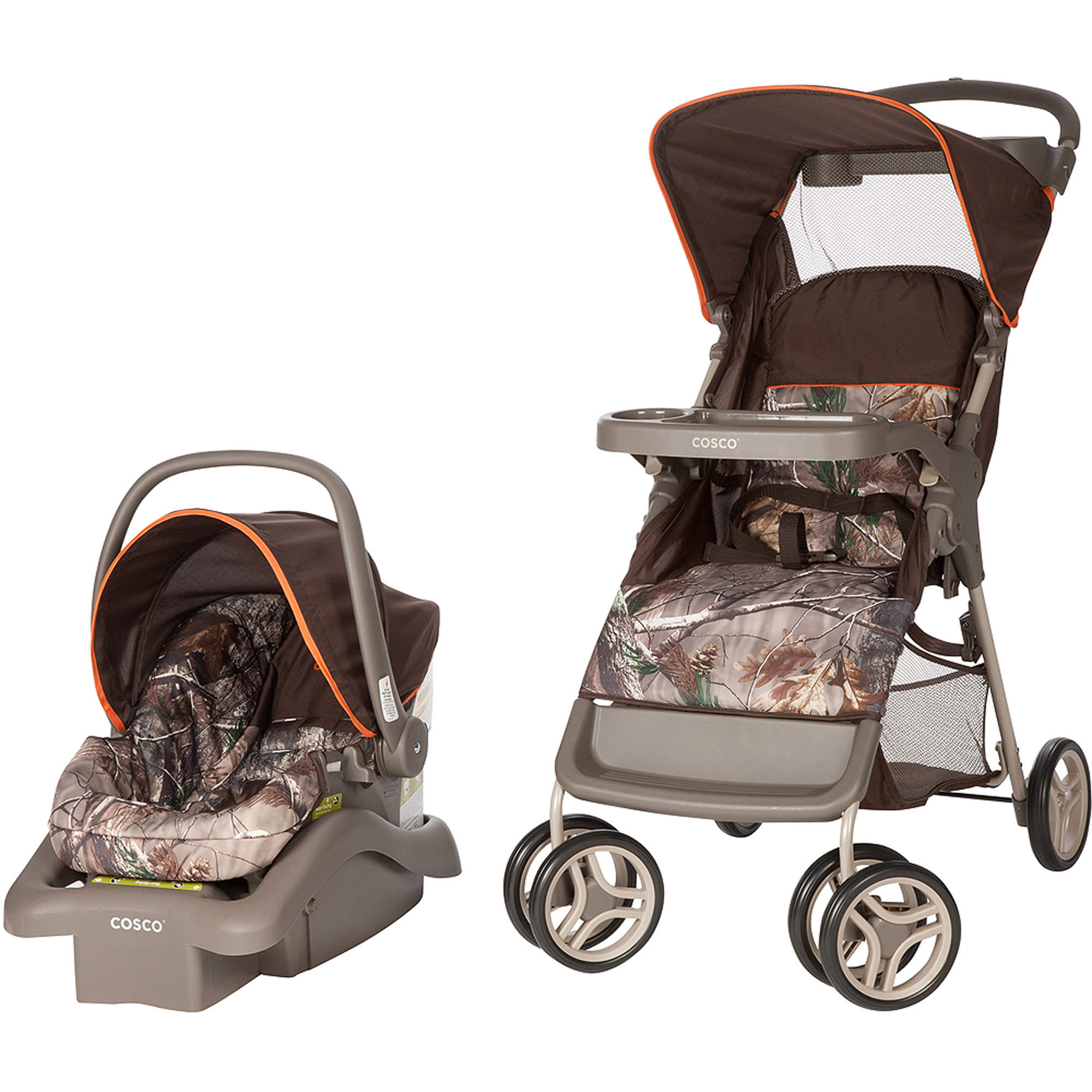 Cosco Lift and Stroll Travel System, Realtree/Orange