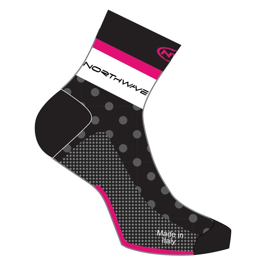 Northwave, Logo, Socks, Black/Fuchsia, L