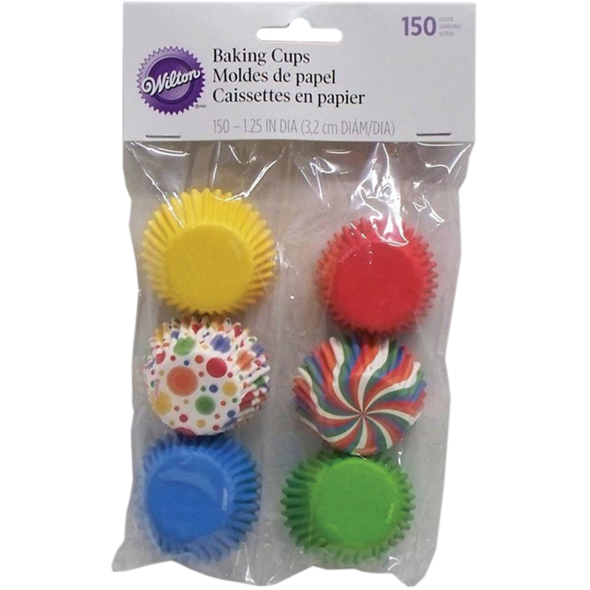 Wilton Mini Baking Cup Liner, Party Assorted, 150 ct. 415-1686