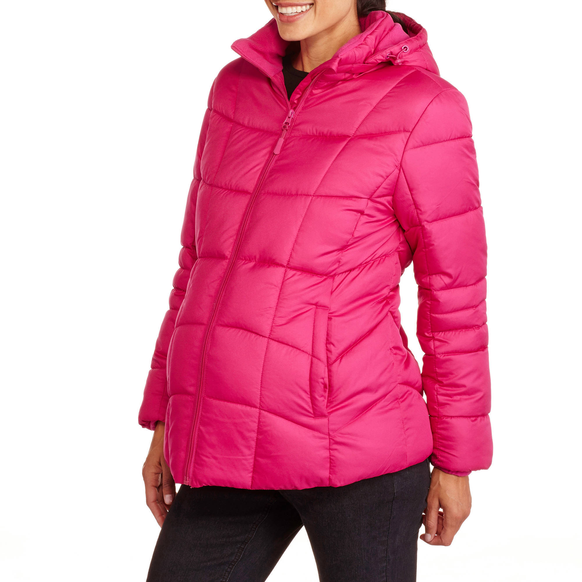 Faded Glory Maternity Hooded Puffer Coat