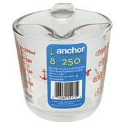 Anchor Hocking 1 Cup Decorated Glass Measuring Cup