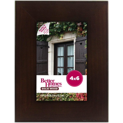 Better Homes and Gardens 4x6 Picture Frame, Mahogany