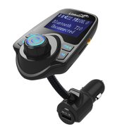 LinkStyle Hand-Free Wireless In-Car Bluetooth FM Transmitter Radio Adapter Car Kit w/ TF Card Slot and USB Car Charger