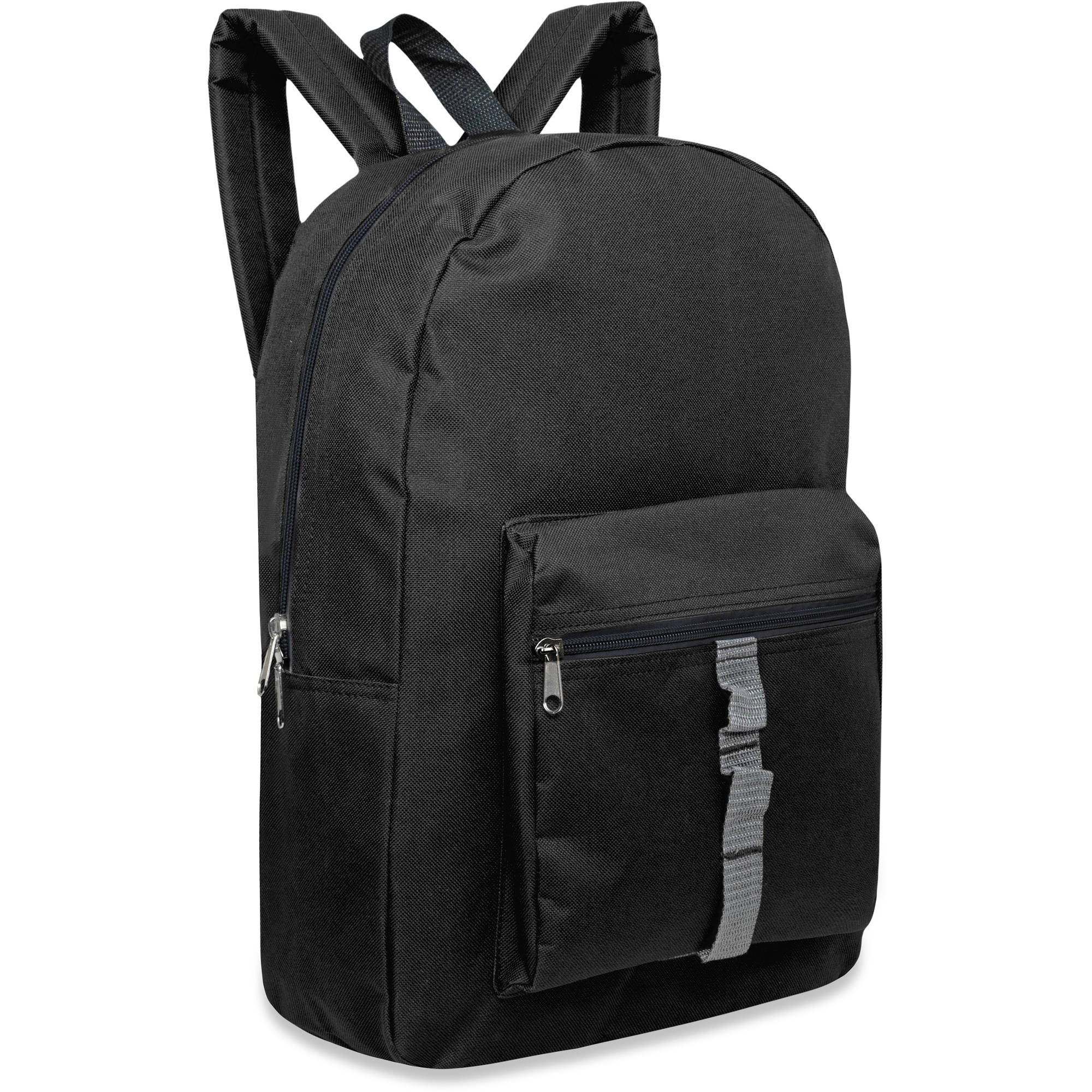 17 Inch Full Size Dome Backpack With Front Zippered Pocket