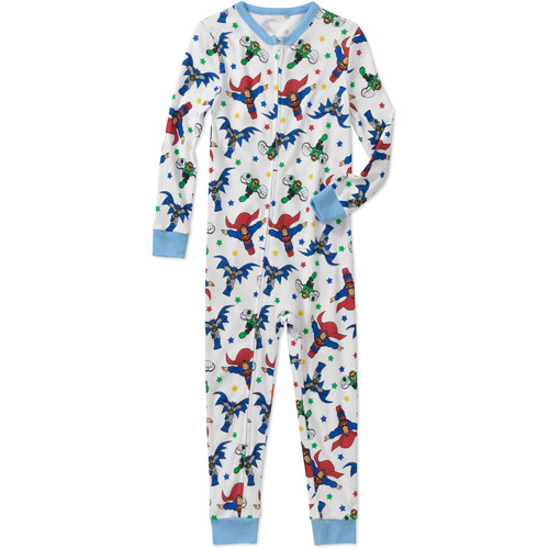 DC Comic's Baby Boys' Superman Batman Cotton Footless PJ