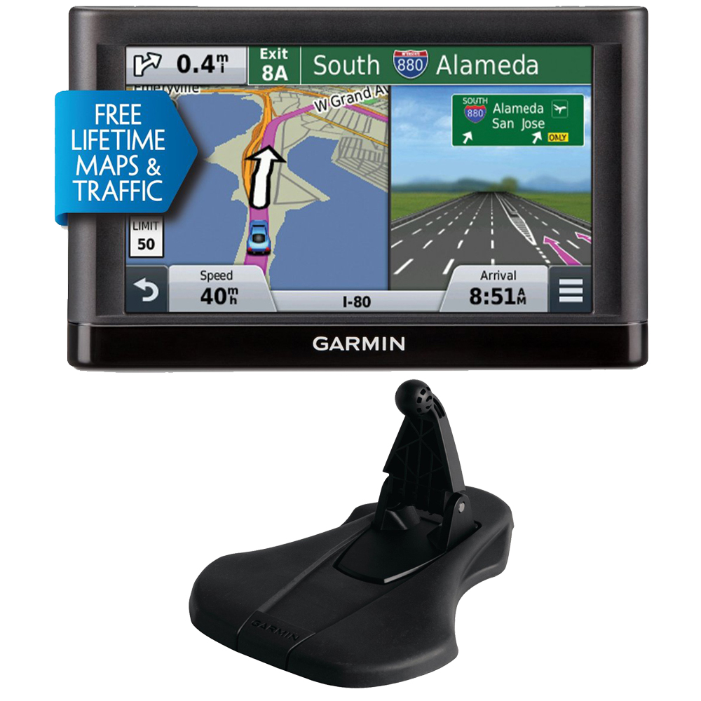 Garmin Nuvi 65LMT Essential GPS System w/ Lifetime Maps,Traffic & Garmin Friction Mount