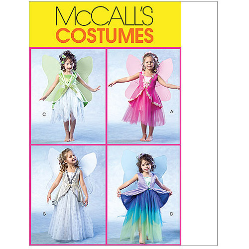 McCall's Children's and Girls' Fairy Costumes, CL (6, 7, 8)