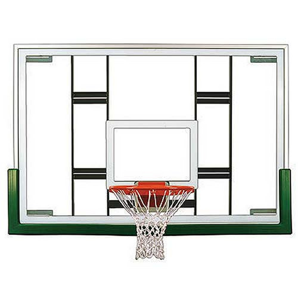 First Team Colossus Upgrade Package- 72'' Glass Basketball Board, Rim and Pad